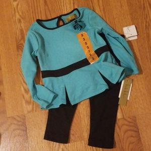 Girls 2 piece set, new with tags 2T